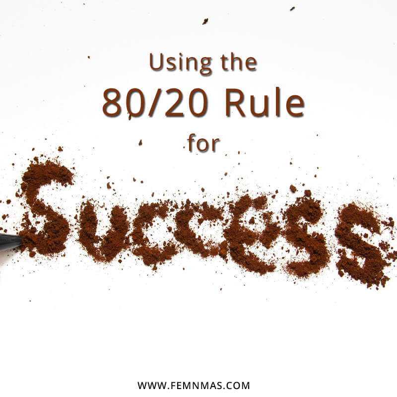 Using the 80/20 rule for success