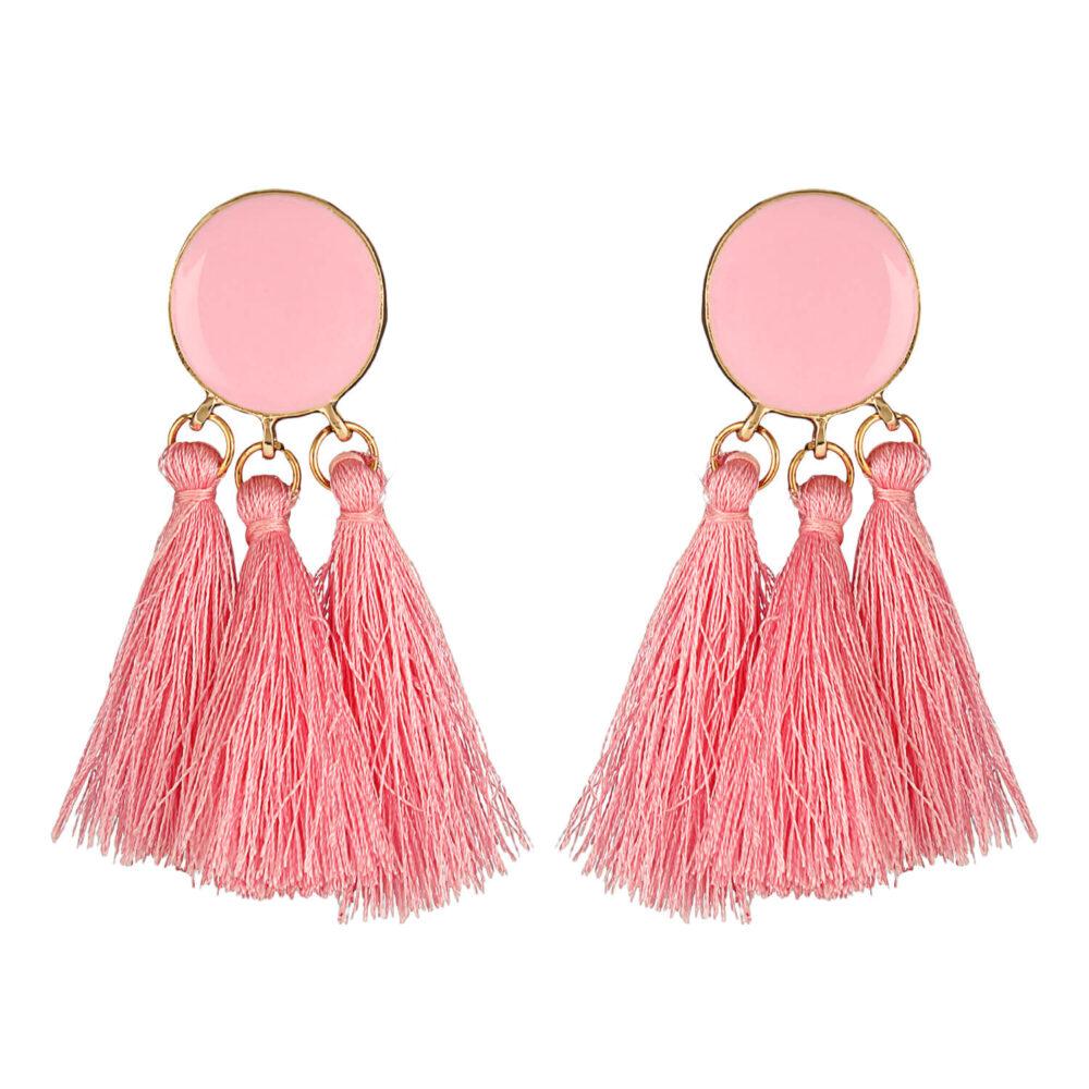 Light Pink Tassel Earring Online